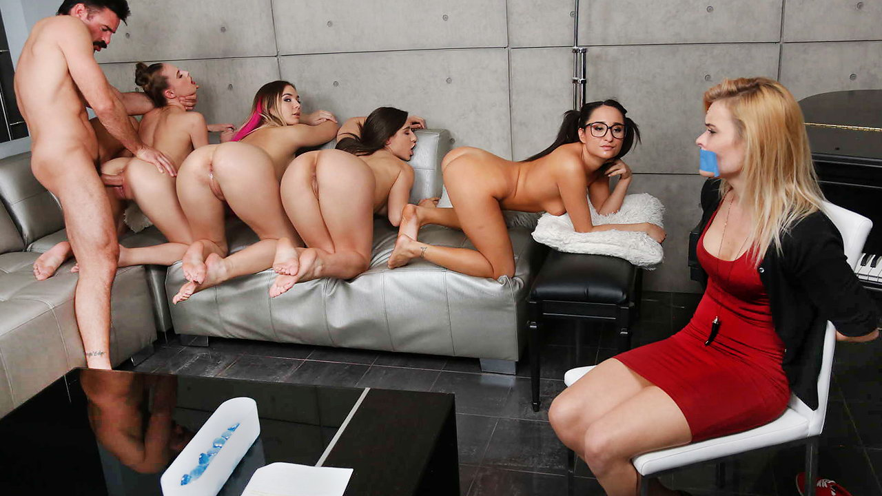 Four Girls Naked four crazy naked girls force the wife to watch her