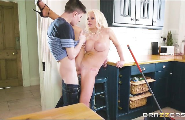 Shut up and keep fucking me with your hard young big dick, I'm cumming!