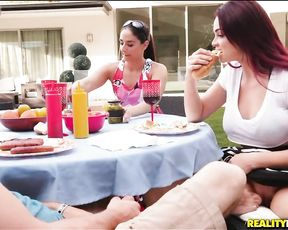 Slutty redhead coed is meeting and fucking her mom's new boyfriend!