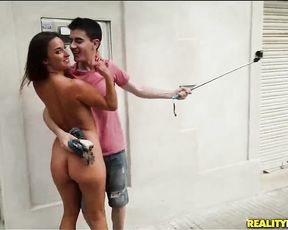My hot girlfriend stole a camera and we made our own sex tape in public places!