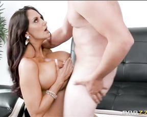 Busty MILF catches the pervert plundering the best of the ladies' lingerie drawers!