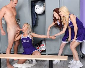 Naughty cheerleader dared to suck and fuck the biggest cock in college!