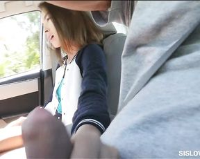Fucking my stepsis after her BF saw her giving me a BJ on the way from school!