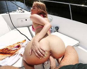 I take my girlfriend out on my boat for our anniversary and fuck her brains out!