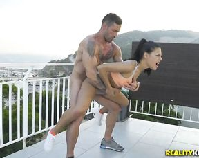 Hot teen has a private trainer at her house and seduces him so he can fuck her little pussy