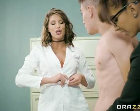 This boy getting fucked by his horny teacher and the school nurse