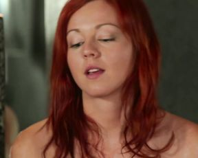 Redhead bitch loves masturbating in the shower and on the bed until she cums