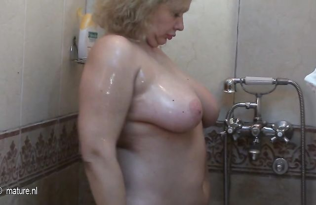 Watch these mature bitches shower and relax in the sauna to get your cock hard
