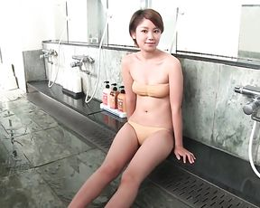 Amateur Asian poses nude in the shower before finger fucking her twat