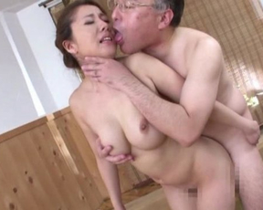 Naked Asian babe gets her mouth and pussy banged unbelievably hard