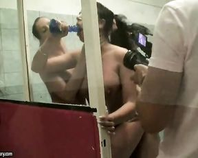 Naked girls are having a wild time feeling one another's pussy