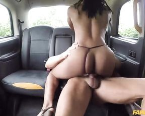 Taxi ride will be free for Ebony girl if she lets driver fuck naked pussy