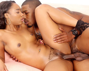 Girl's naked pussy should be fucked well and black guy tries his best