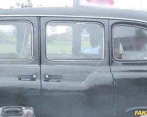 Naked taxi driver fucks Ebony passenger and she wins a free ride