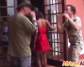 Various black sluts suck several cocks during homemade naked party
