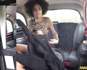 Exotic black passenger uses naked pussy to pay taxi driver for ride