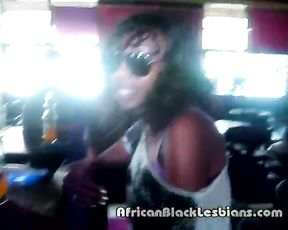 Black babe thinks opponent girl is naked and she is going to do her