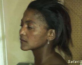 Black female is fascinated by tender white lover ready to bonk naked girl