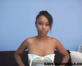 Ebony bitch loves masturbating in front of the camera until she cums