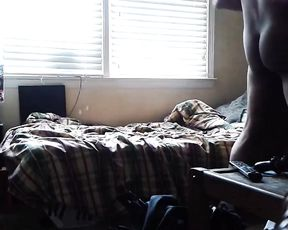 Fat ebony slut gets involved into a hot fucking action by her worshipper