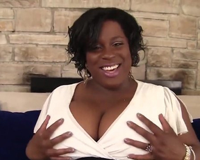 BBW ebony momma in fishnet stockings shows off her holes and masturbates