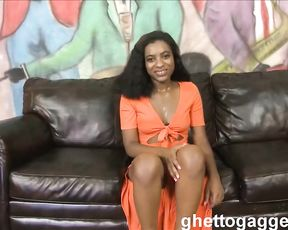 Mouth and pussy of black honey are ready for adventures with naked dicks