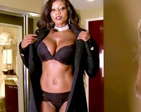 Ebony MILF sent husband to work and enjoyed naked cock of white lover