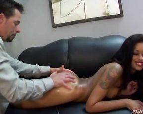 Man picked up Ebony hooker to eat her naked sissy and ass at home