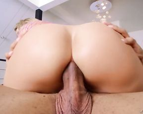 Sexy naked girl rides the huge black cock with her ass