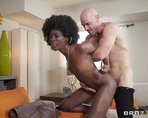 Police officer fucks naked black partner after strong excitement fills them