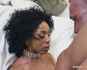 Married man is seduced by wife's black friend with small naked tits