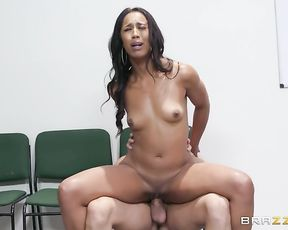 Aroused black woman is naked and eager to cheat on unfaithful hubby