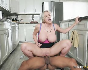Big breasted naked stepmom gets fucked reverse cowgirl style