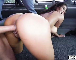 Sexy naked girl gets banged like a bitch dog in the bus