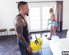 Man pays maid to take T-shirt off and clean up with naked twins