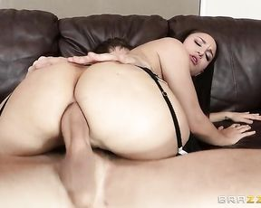 Maid's pussy is wet and tight but naked man wants to fuck anus also