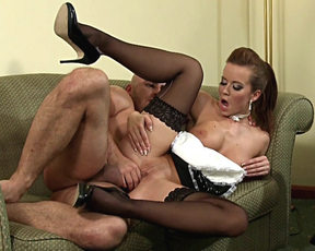 Naked boss with bald head assfucks maid giving her a lot of pleasure