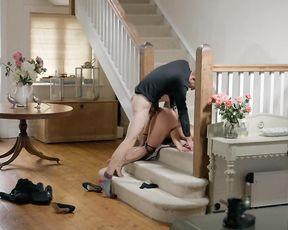 Vast dick works inside maid's vagina making her feel naked pleasure
