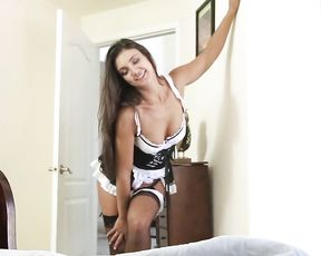 Willing man sees with naked eye maid is horny and wants to suck