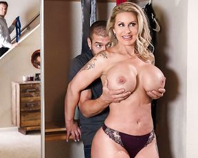 Stifler's Mom catches her daughter's boyfriend sneaking out of her home