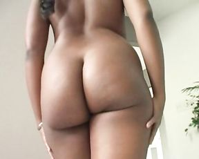 Man doesn't pay attention to naked Ebony girl so she is going to tempt him