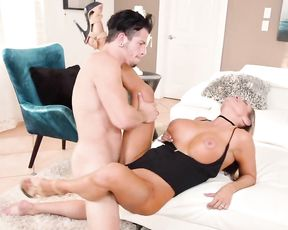 Tall girl with perfect naked tits seduces guy to get revenge on hubby
