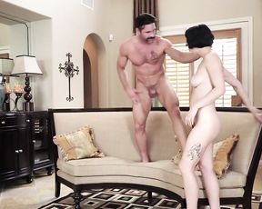 Nice conversation with girl in red leaves man naked and turns into nailing