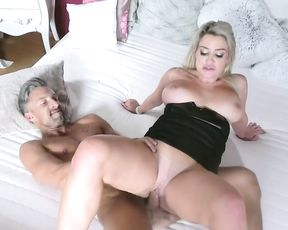 Busty blonde girl with naked assess cheats on BF with hot realtor