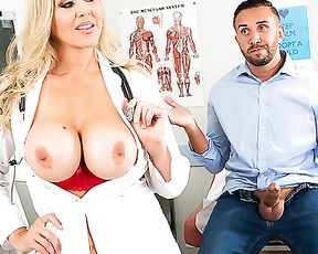 Blonde doctor is a girl after all and wants naked dick of patient