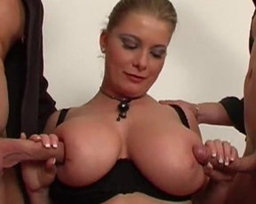 Naked girl over thirty with big boobies had never felt such a pleasure