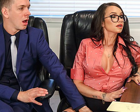Russian man behaves extremely hard with his naked girl in office