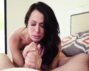 Middle-aged girl realizes that stepson's naked cock is better than sex toy