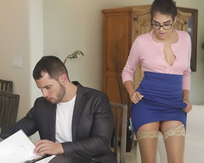 Businessman finishes deal by drilling naked girl in the new bedroom