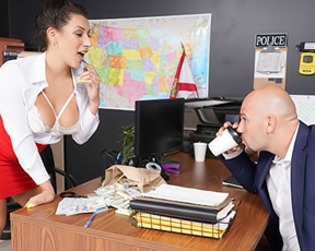 Boss calls girl to his office and punishes naked pussy with big dick